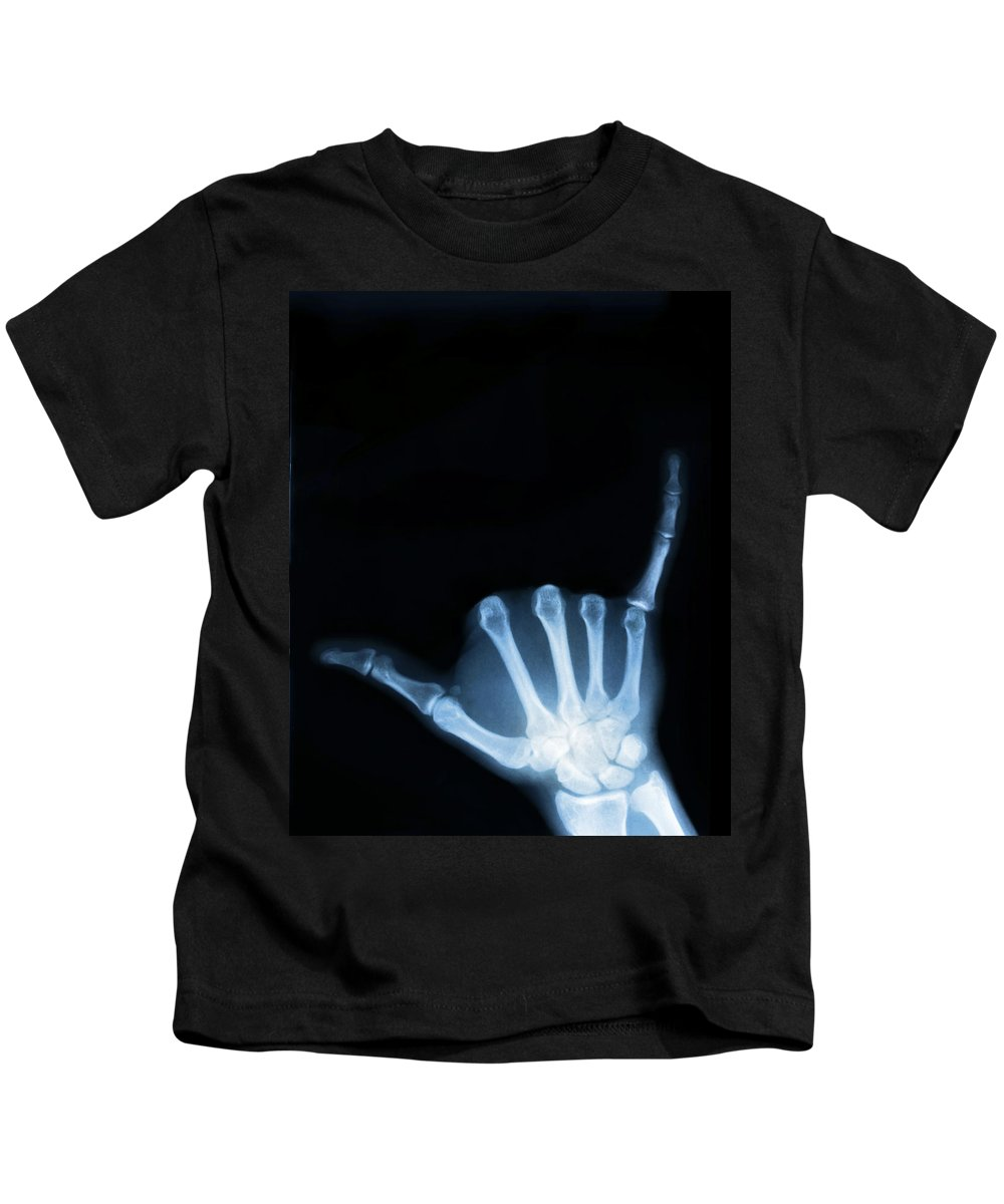 X-ray Kids T-Shirt featuring the photograph Hang Loose by Gravityx9 Designs