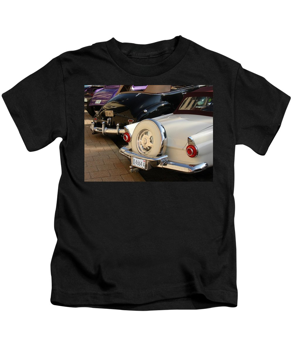 Classic Cars Kids T-Shirt featuring the photograph Hanging Out by Steve Karol