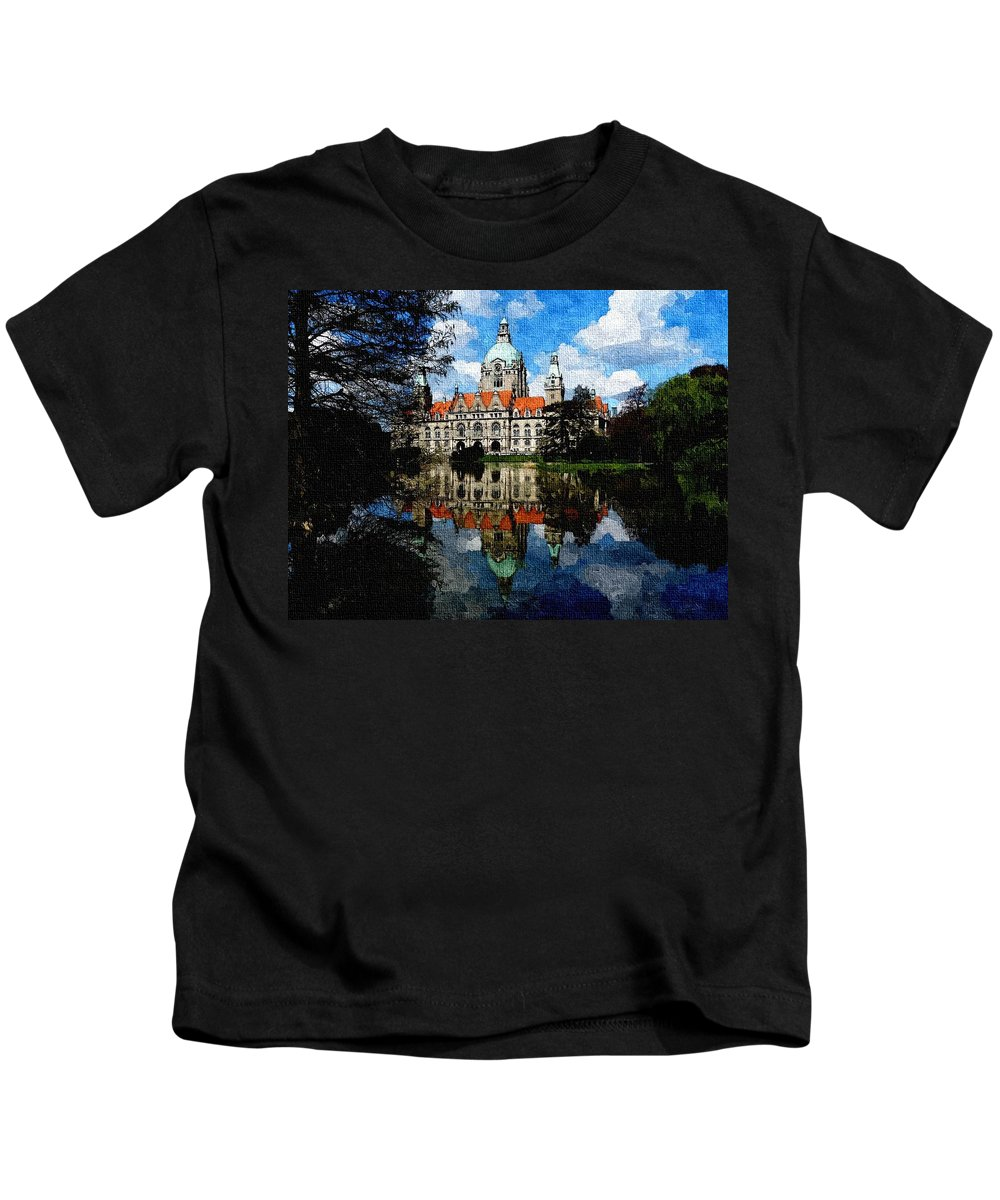 Announcement Kids T-Shirt featuring the painting Hanover Germany Catus 1 No. 1 H B by Gert J Rheeders