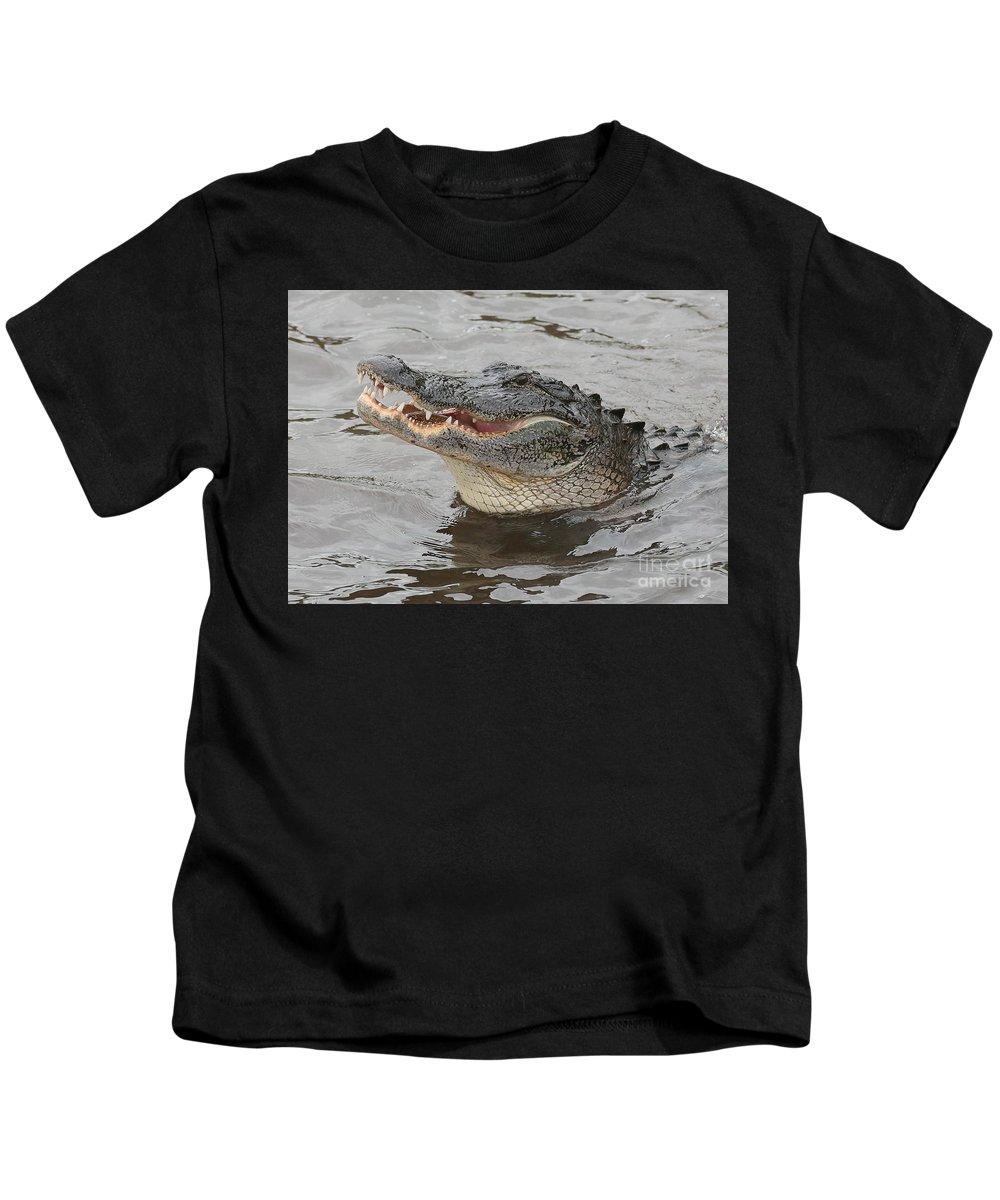 Gator Kids T-Shirt featuring the photograph Happy Florida Gator by Carol Groenen