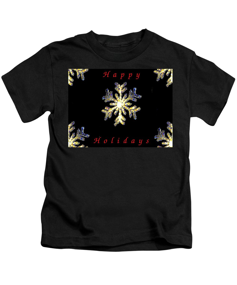 Holiday Kids T-Shirt featuring the photograph Happy Holiday Snowflakes by Tim Allen
