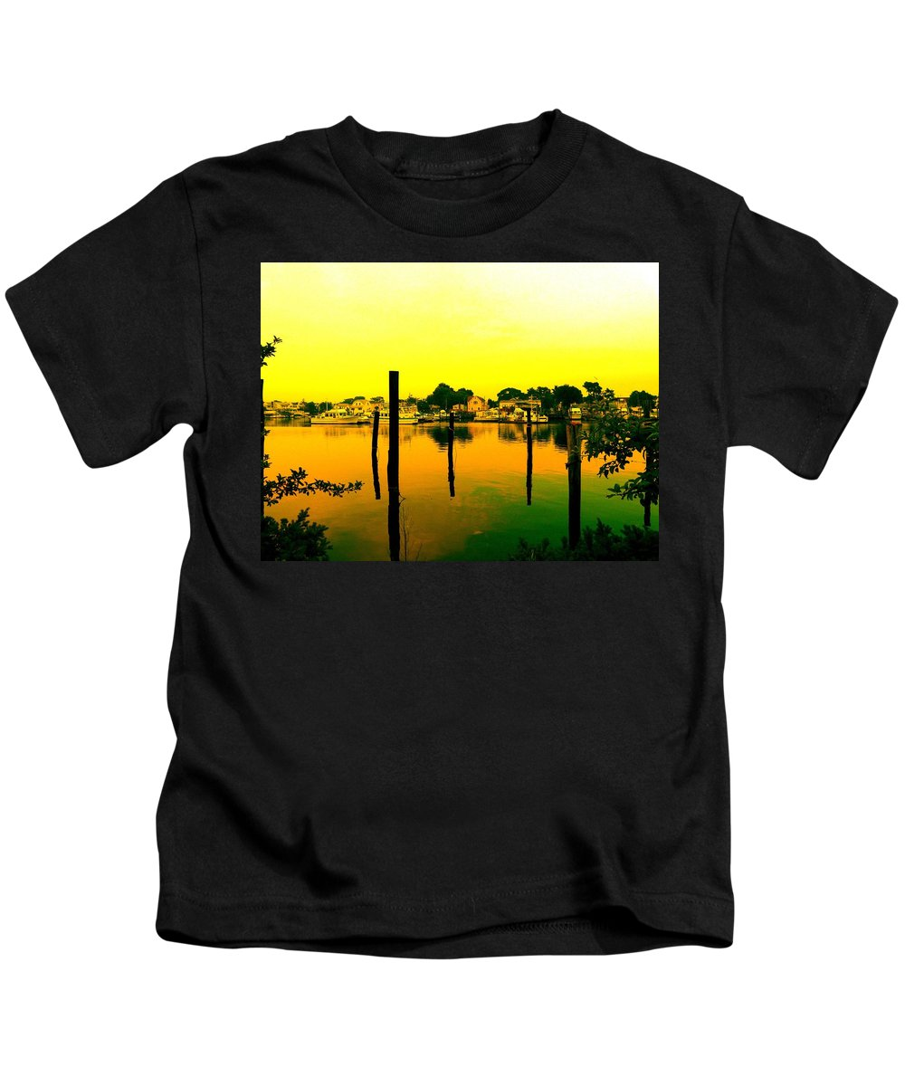 Waterscape Kids T-Shirt featuring the photograph Happy Homes by Kendall Eutemey