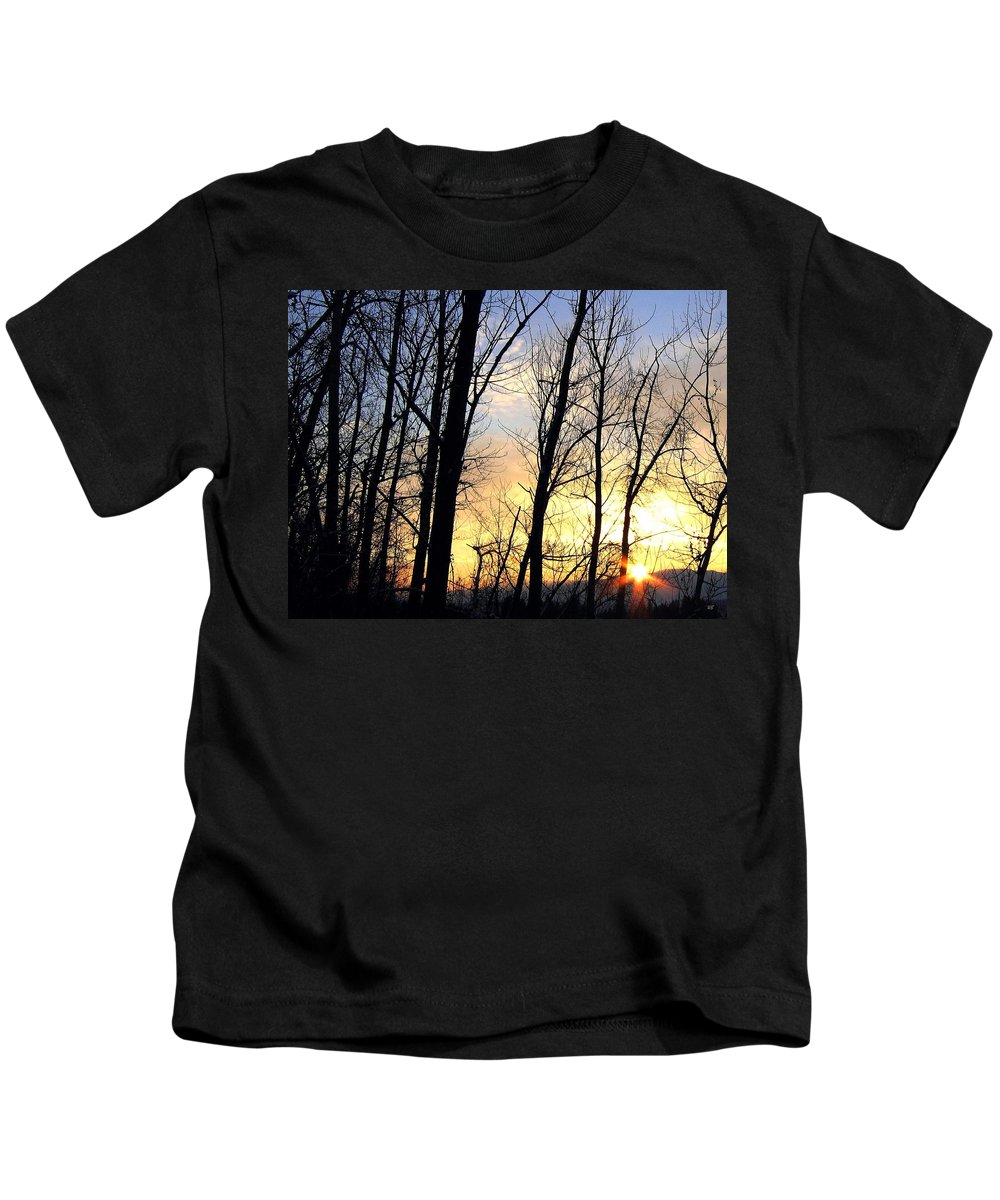 Sunset Kids T-Shirt featuring the photograph Happy Trails Sunset by Will Borden