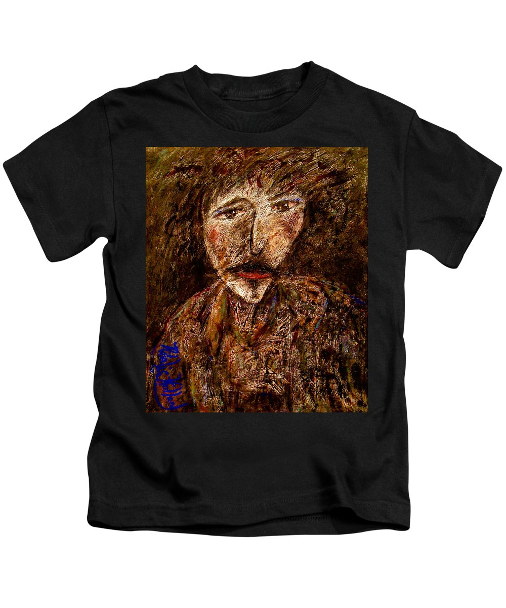 Expressionsim Kids T-Shirt featuring the mixed media Hard Life by Natalie Holland