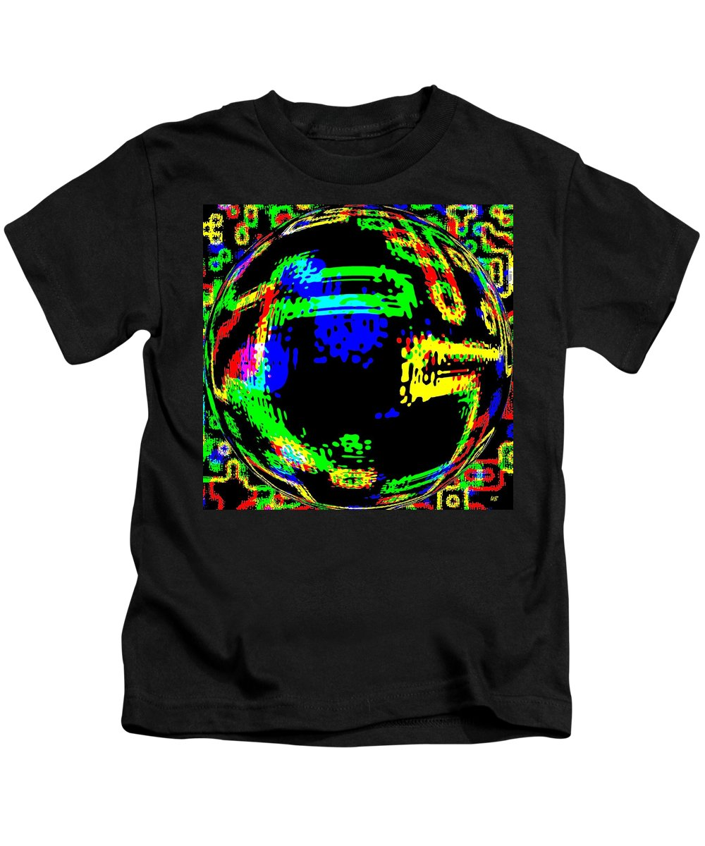 Abstract Kids T-Shirt featuring the digital art Harmony 13 by Will Borden