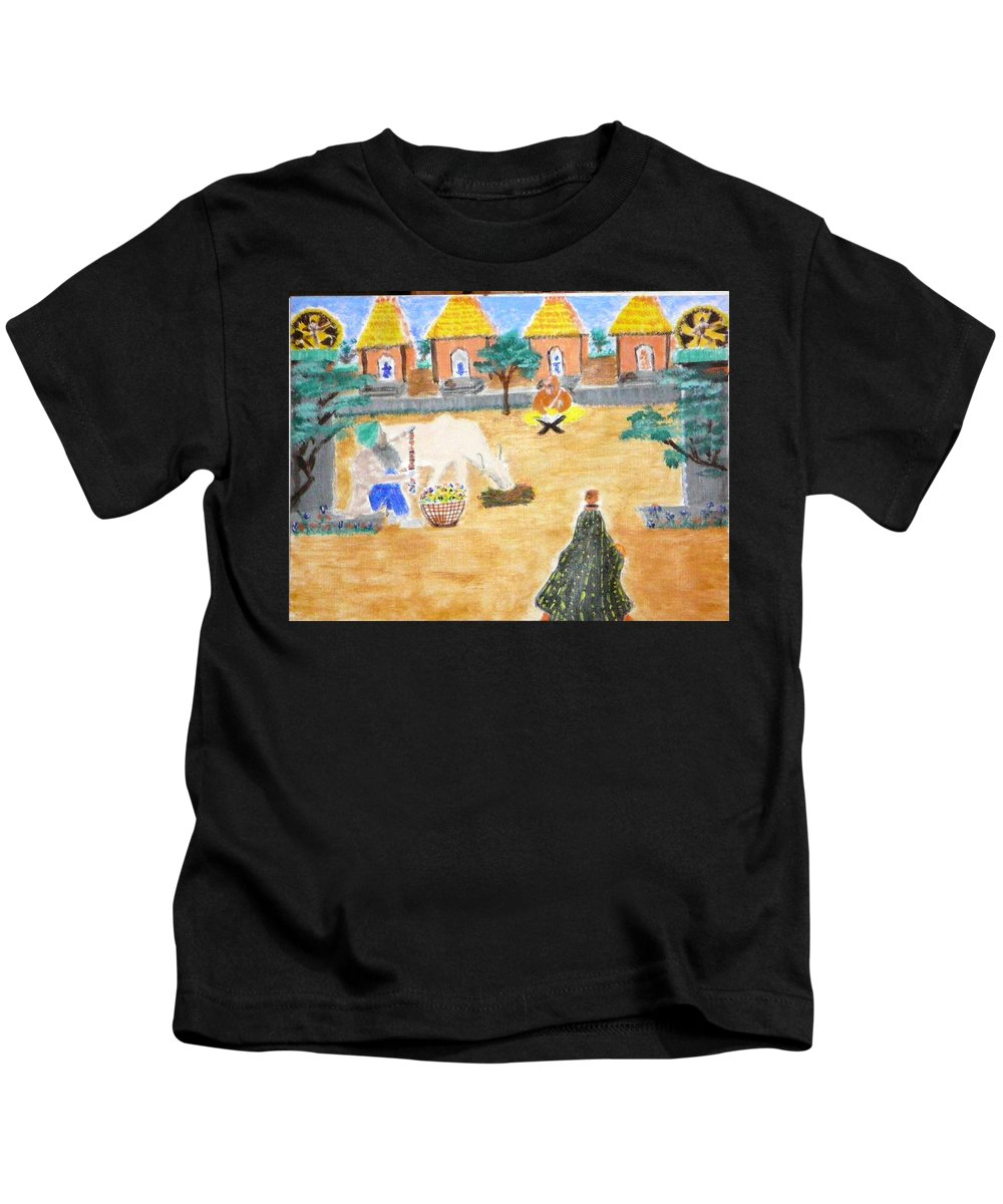 Kids T-Shirt featuring the painting Harmony by R B