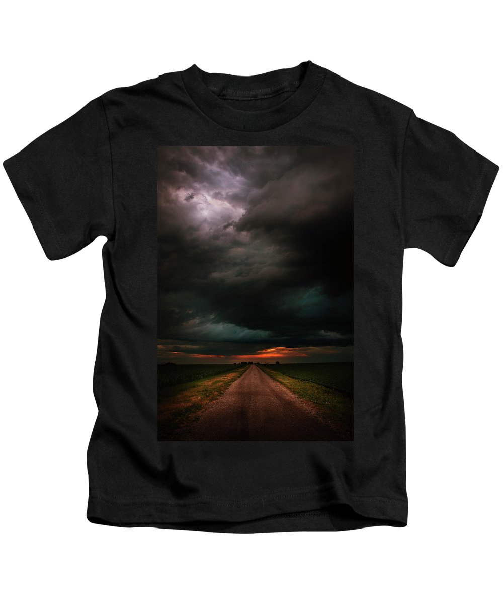 Weather Kids T-Shirt featuring the photograph Harsh Weather by David Jilek