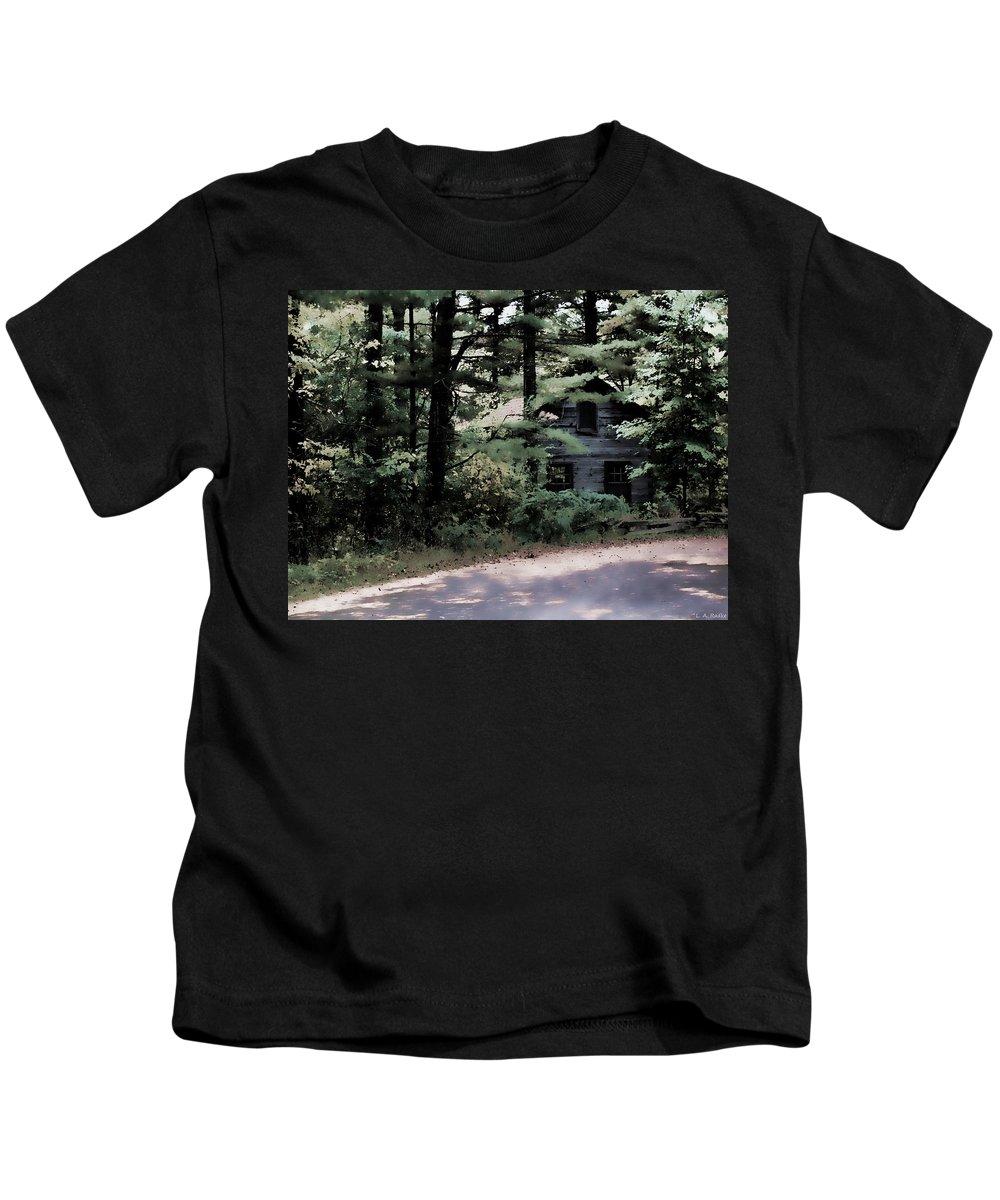 Lauren Radke Kids T-Shirt featuring the photograph Haunted by Lauren Radke