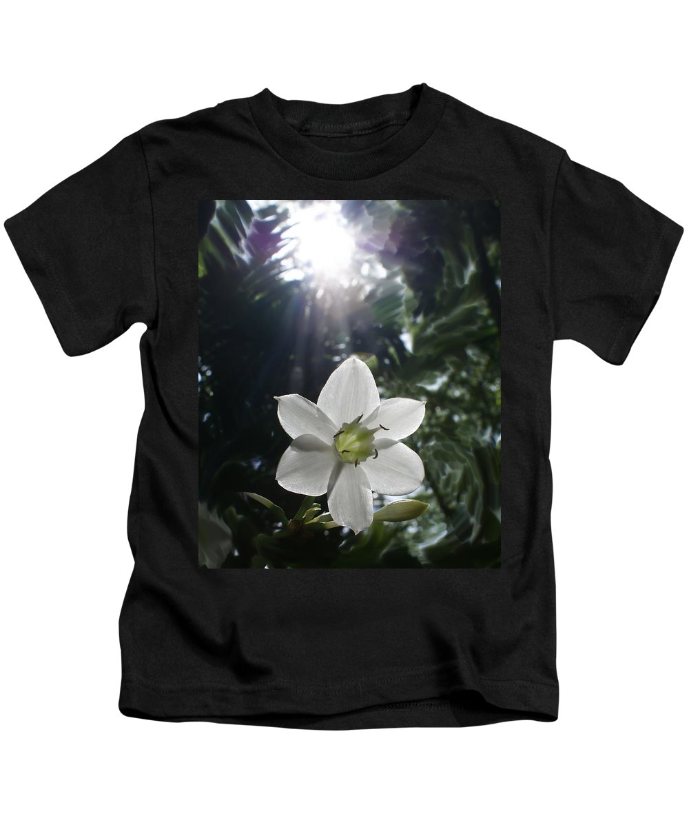 Hawaiian Kids T-Shirt featuring the photograph Hawaiian Flower by Heather Coen