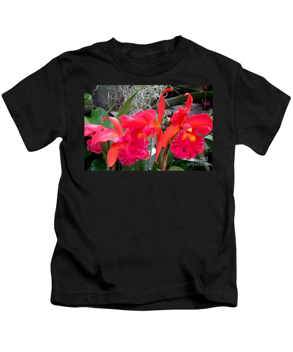 Hawaiian Orchid Kids T-Shirt featuring the photograph Hawaiian Orchid 37 by Randall Weidner