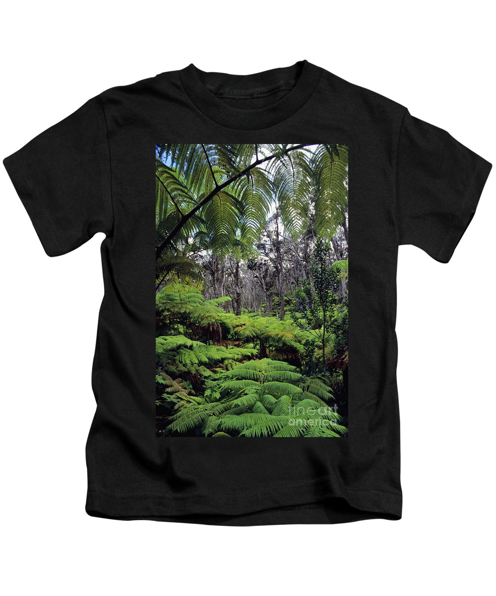 Beautiful Kids T-Shirt featuring the photograph Hawaiian Rainforest by Greg Vaughn - Printscapes