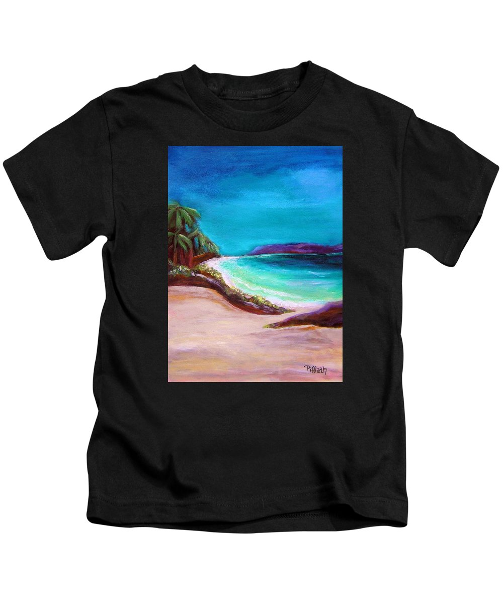 Beach Kids T-Shirt featuring the painting Hawaiin Blue by Patricia Piffath