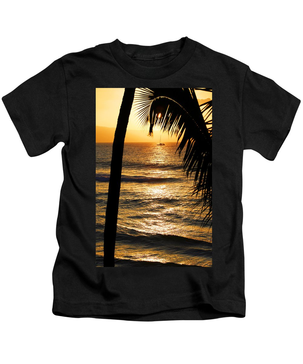 Hawaii Kids T-Shirt featuring the photograph Hawaiin Sunset by Marilyn Hunt