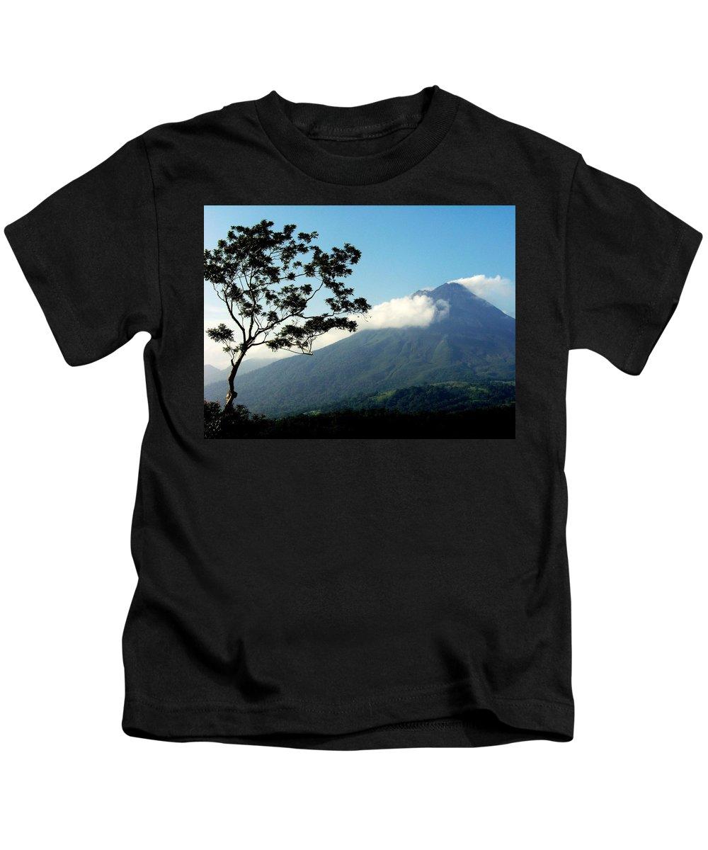 Volcanos Kids T-Shirt featuring the photograph Hear The Winds Blow by Karen Wiles
