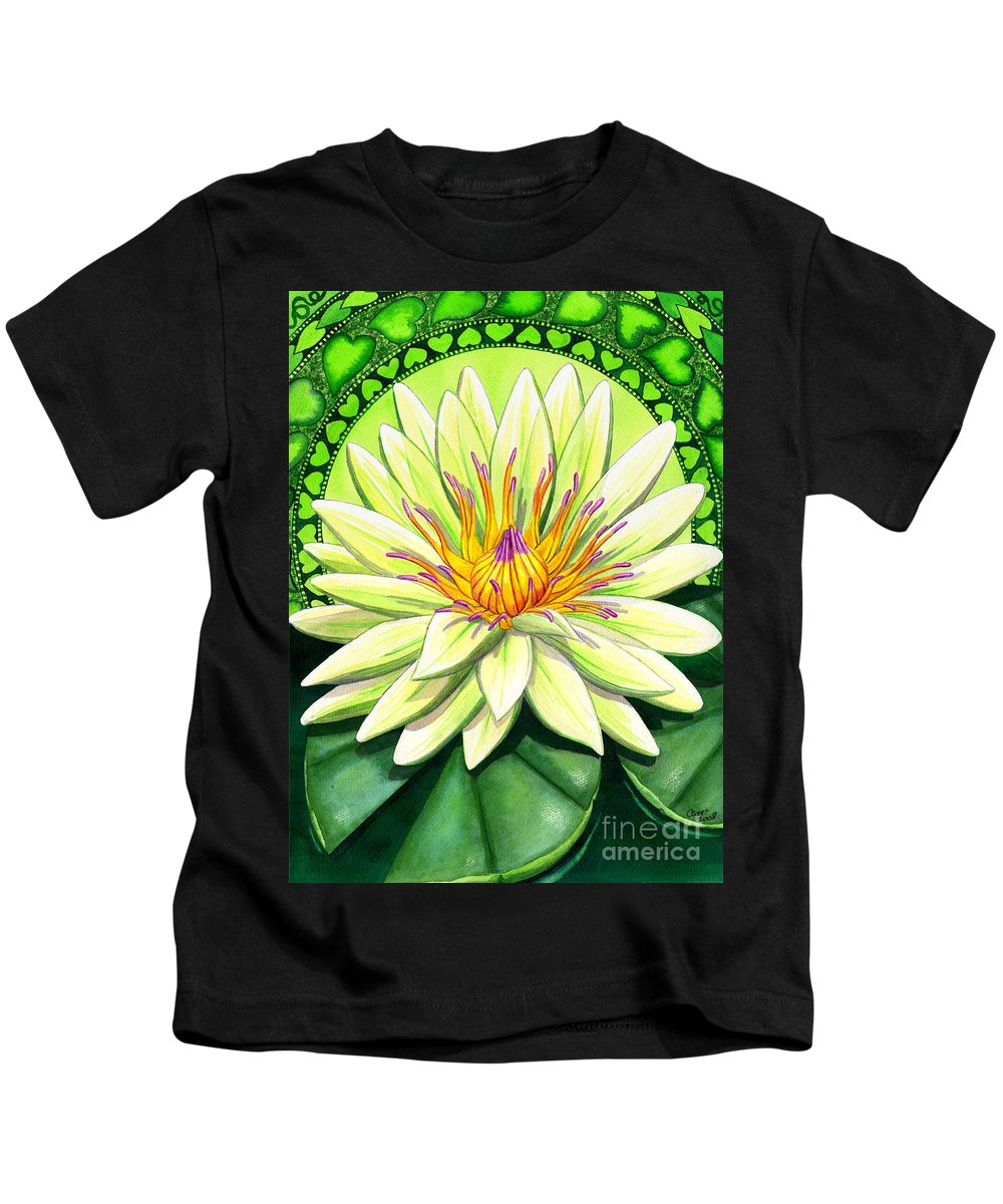 Heart Kids T-Shirt featuring the painting Heart Chakra by Catherine G McElroy