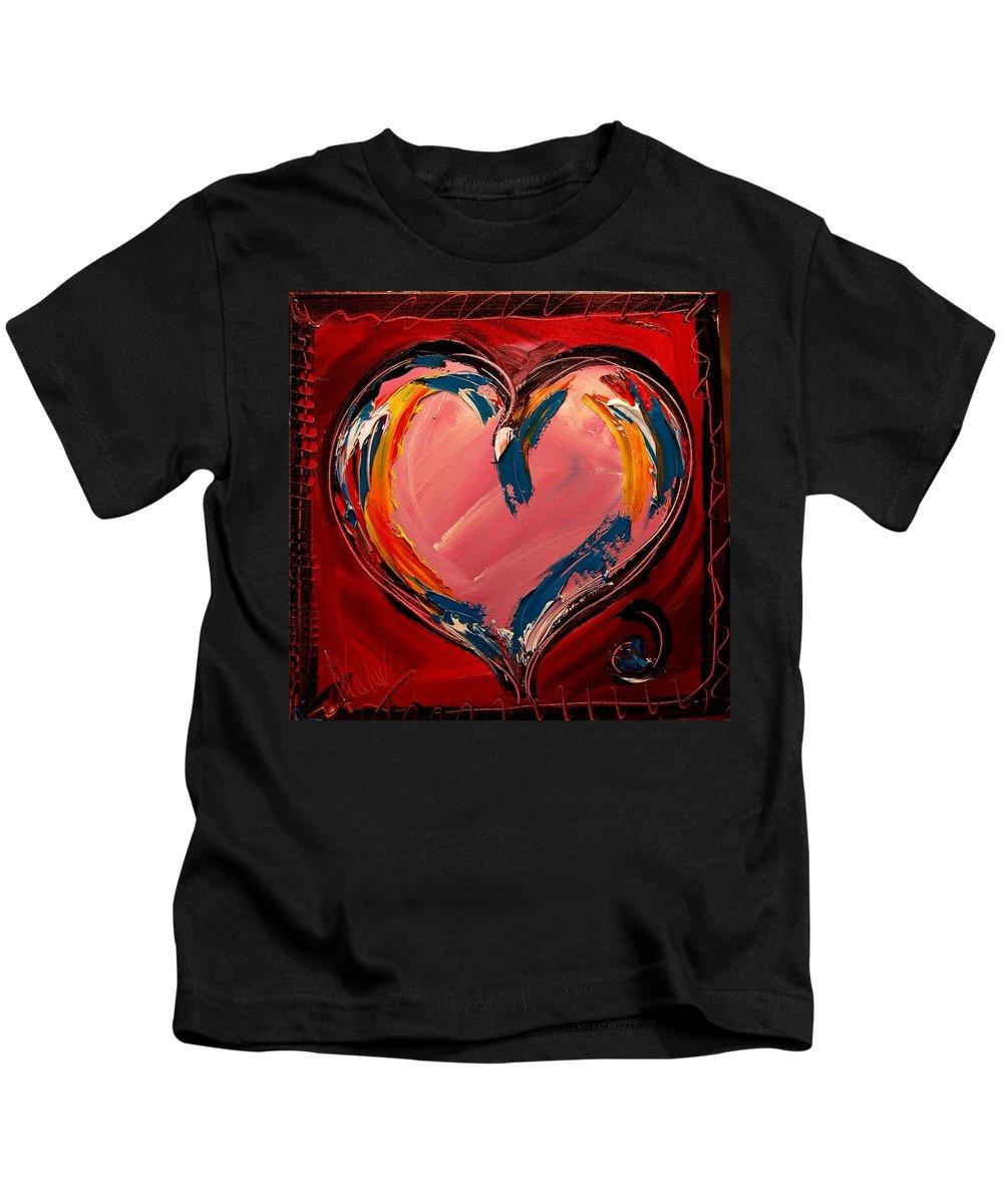 Heart Kids T-Shirt featuring the painting Heart by Mark Kazav