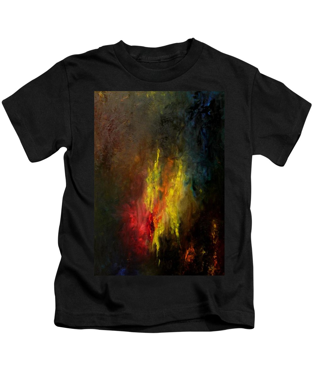 Art Kids T-Shirt featuring the painting Heart Of Art by Rushan Ruzaick