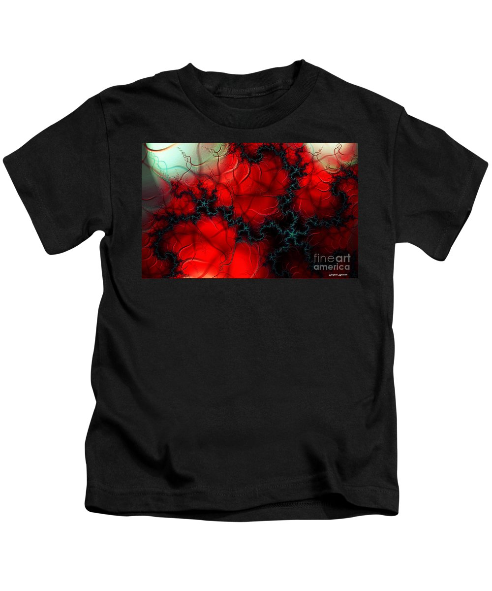 Clay Kids T-Shirt featuring the digital art Heart Pulse by Clayton Bruster