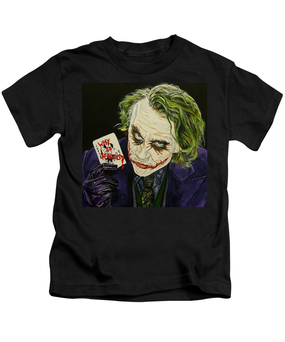70003c30 Heath Ledger The Joker Kids T-Shirt for Sale by David Peninger