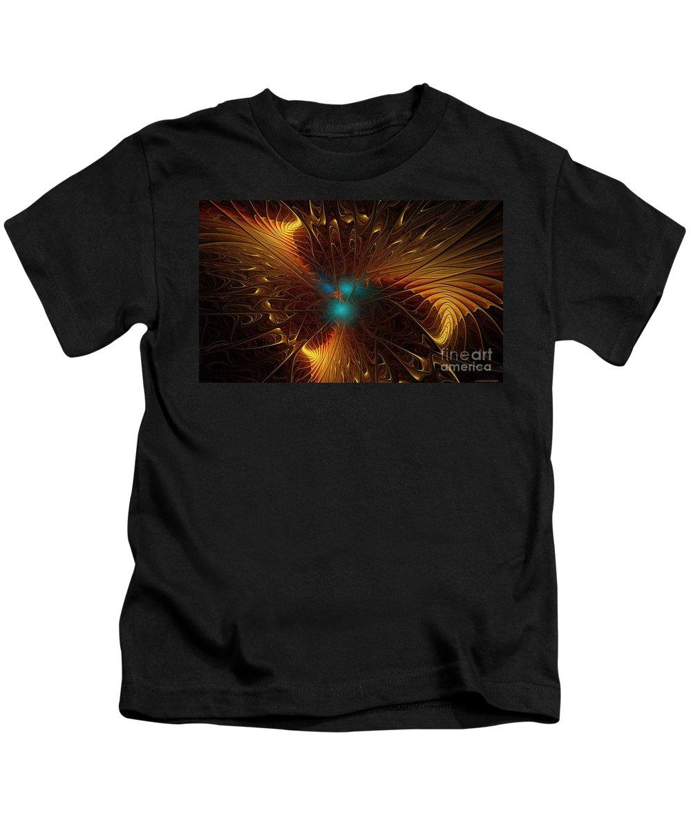 Fractal Kids T-Shirt featuring the digital art Heavenly Wings by Deborah Benoit