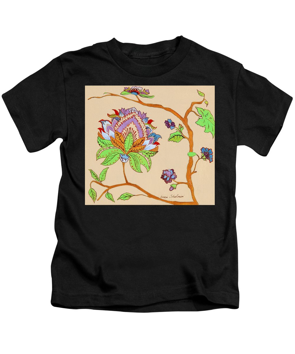 Floral Kids T-Shirt featuring the painting Heavens Flower by Portraits By NC