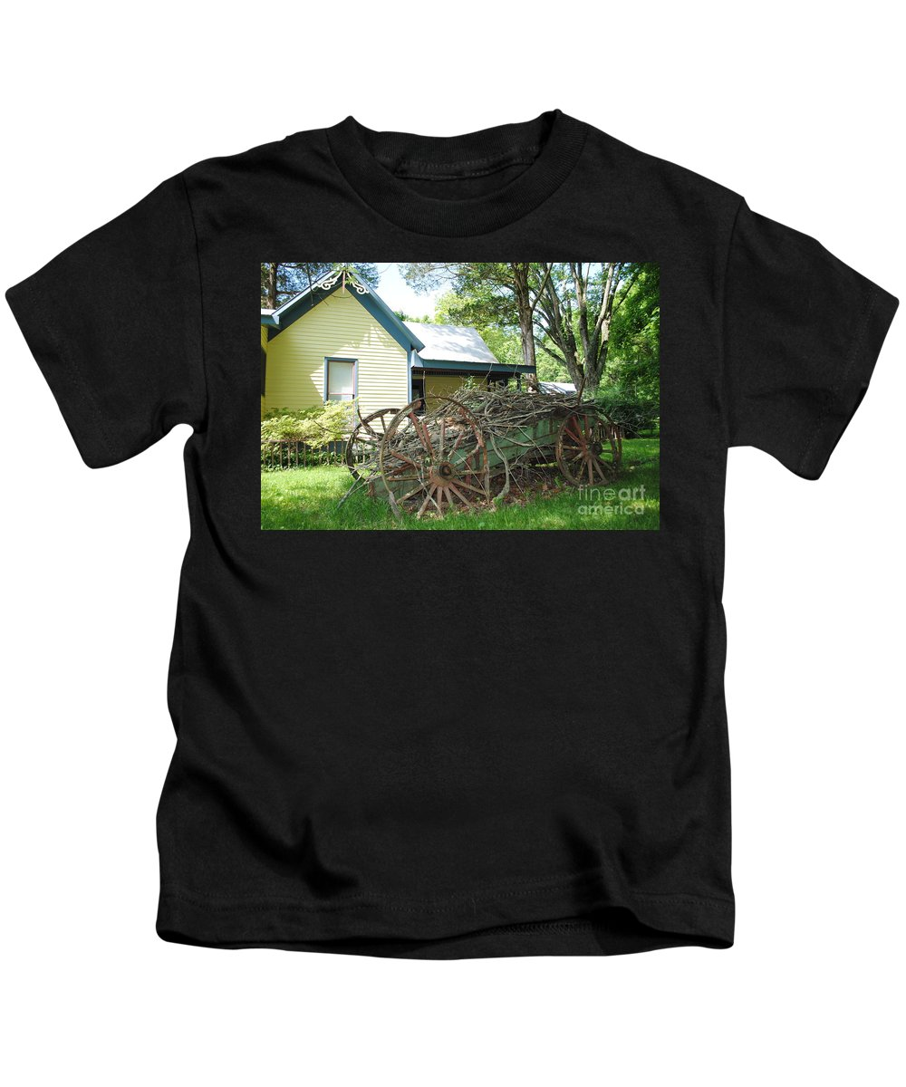 Wagon Kids T-Shirt featuring the photograph Heavy Wagon Load by Jost Houk