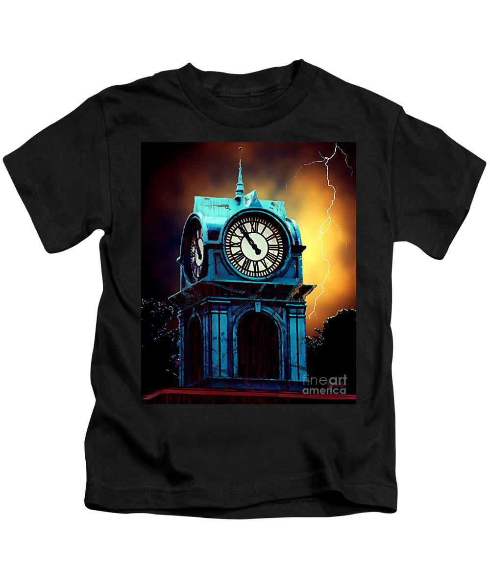 Blood Kids T-Shirt featuring the painting Hells Timeclock by RC DeWinter