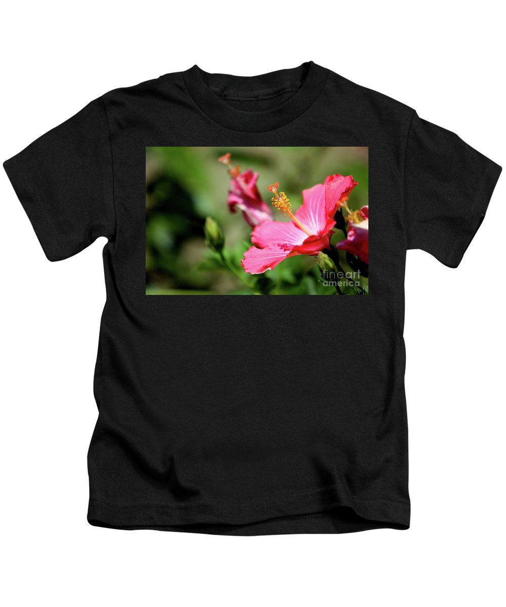 Flower Kids T-Shirt featuring the photograph Hibiscus Bloom by Alan Look
