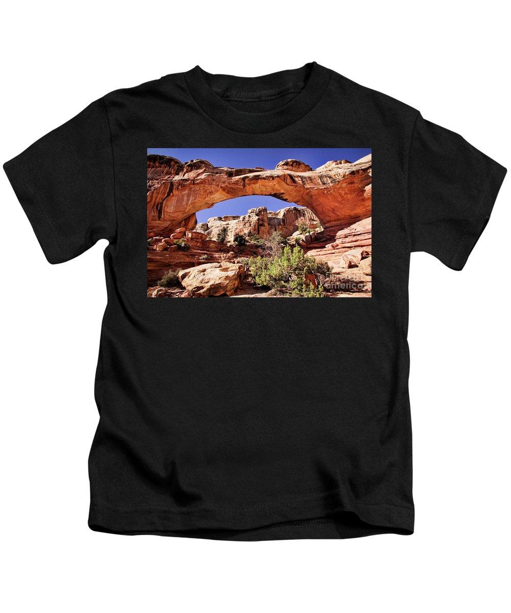 Utah Kids T-Shirt featuring the photograph Hickman Bridge by Scott Kemper