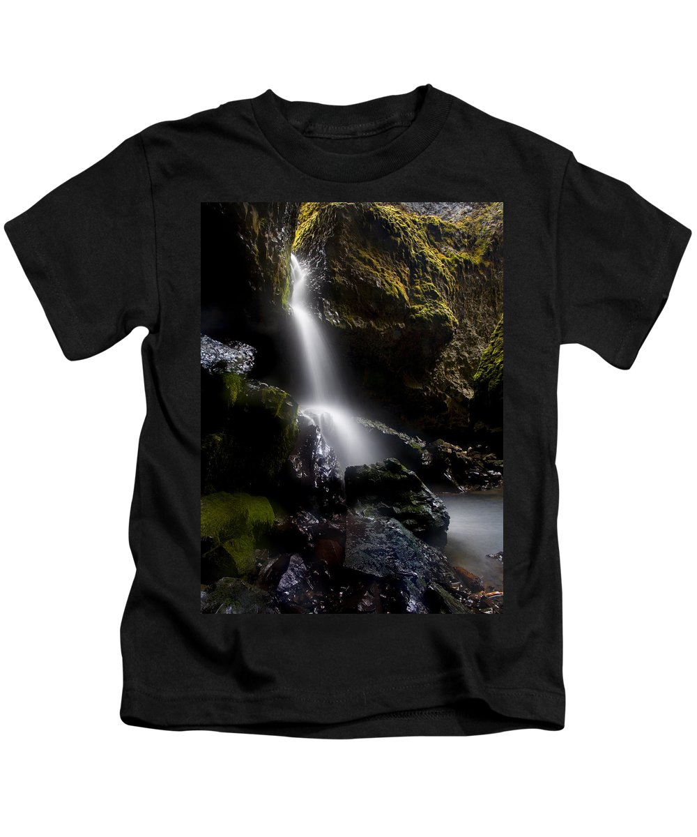 Waterfall Kids T-Shirt featuring the photograph Hidden Falls by Mike Dawson