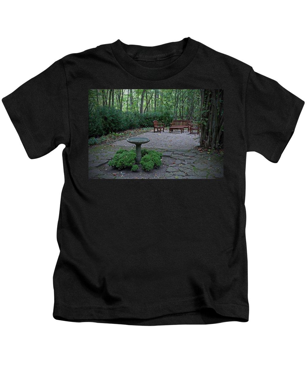 Garden Kids T-Shirt featuring the photograph Hidden Garden by David Arment
