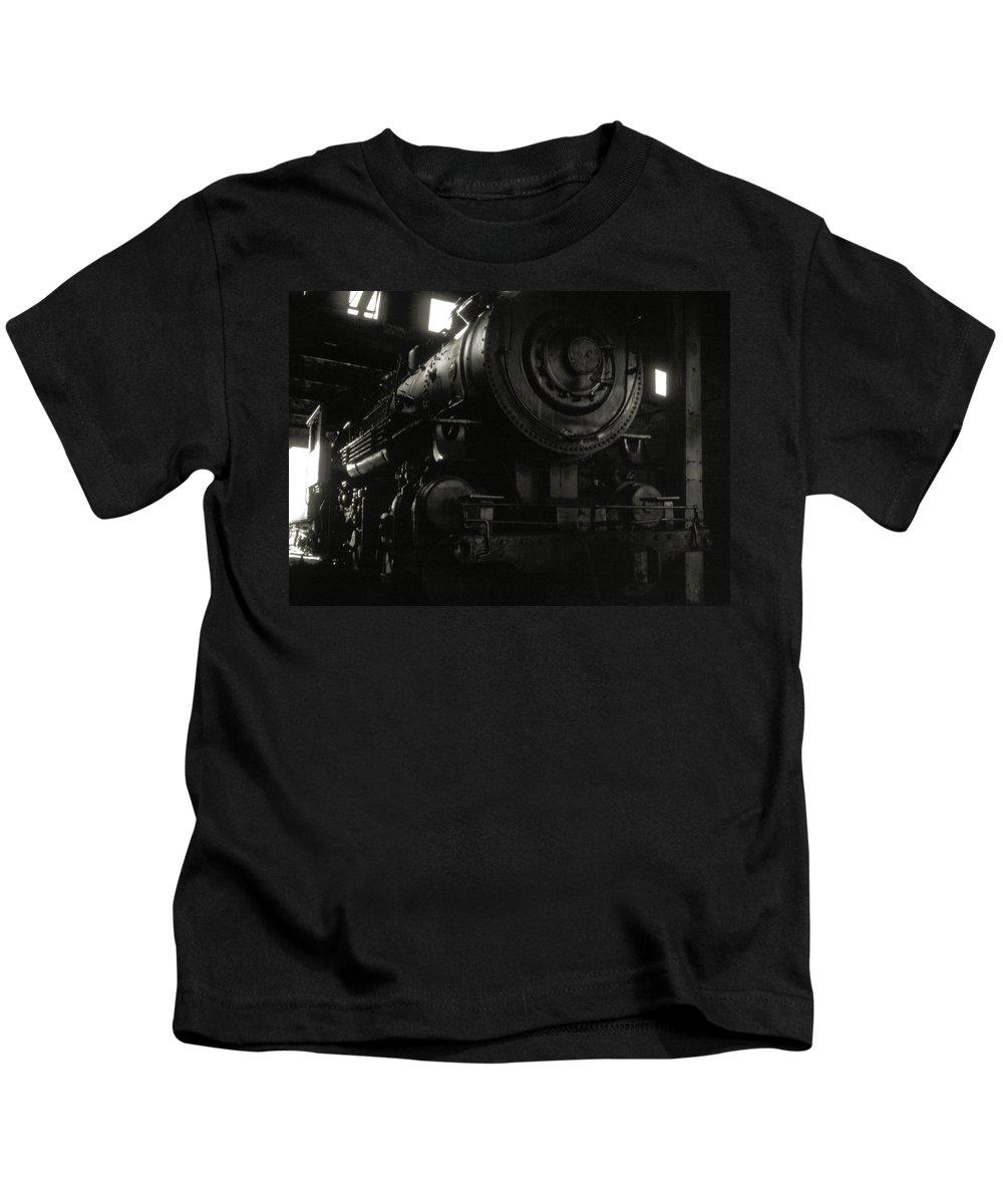 Railroads Kids T-Shirt featuring the photograph Hidden Legend by Richard Rizzo