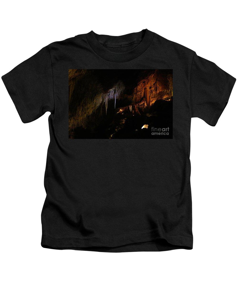 Stalactites Kids T-Shirt featuring the photograph Hidden Light by Oscar Moreno