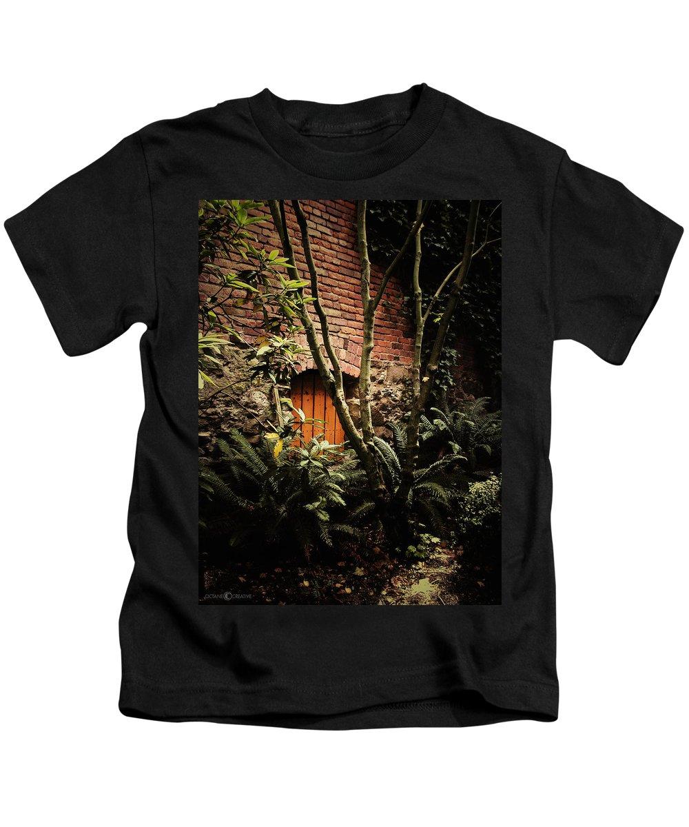 Brick Kids T-Shirt featuring the photograph Hidden Passage by Tim Nyberg