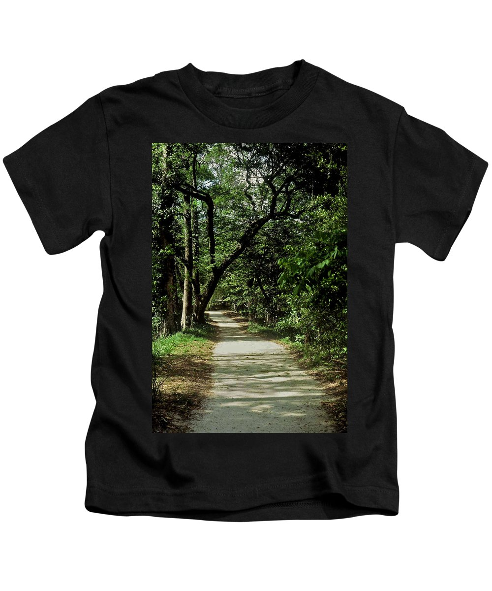 Path Kids T-Shirt featuring the photograph Hidden Path by Gary Wonning