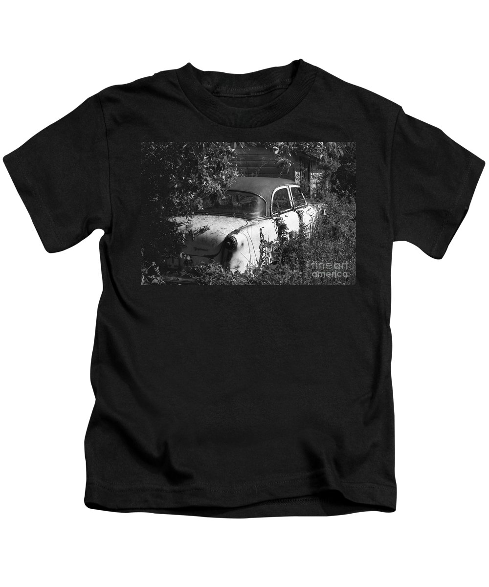 Abandoned Kids T-Shirt featuring the photograph Hidden Treasure by Richard Rizzo