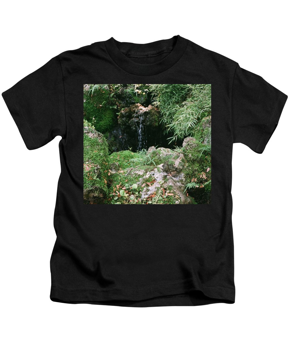 Nature Kids T-Shirt featuring the photograph Hidden Waterfall by Dean Triolo