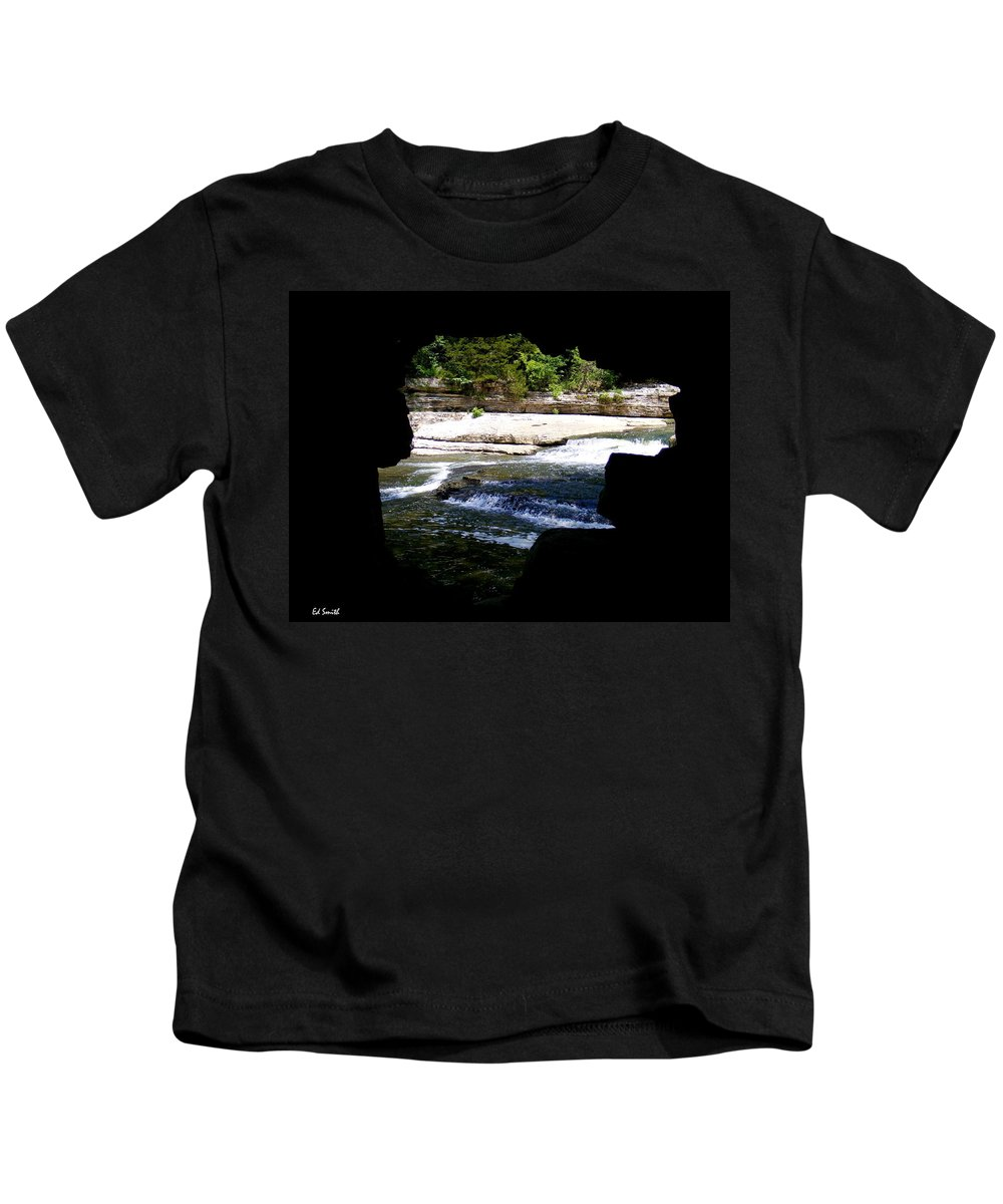 The Hide Away Kids T-Shirt featuring the photograph Hide Away by Edward Smith