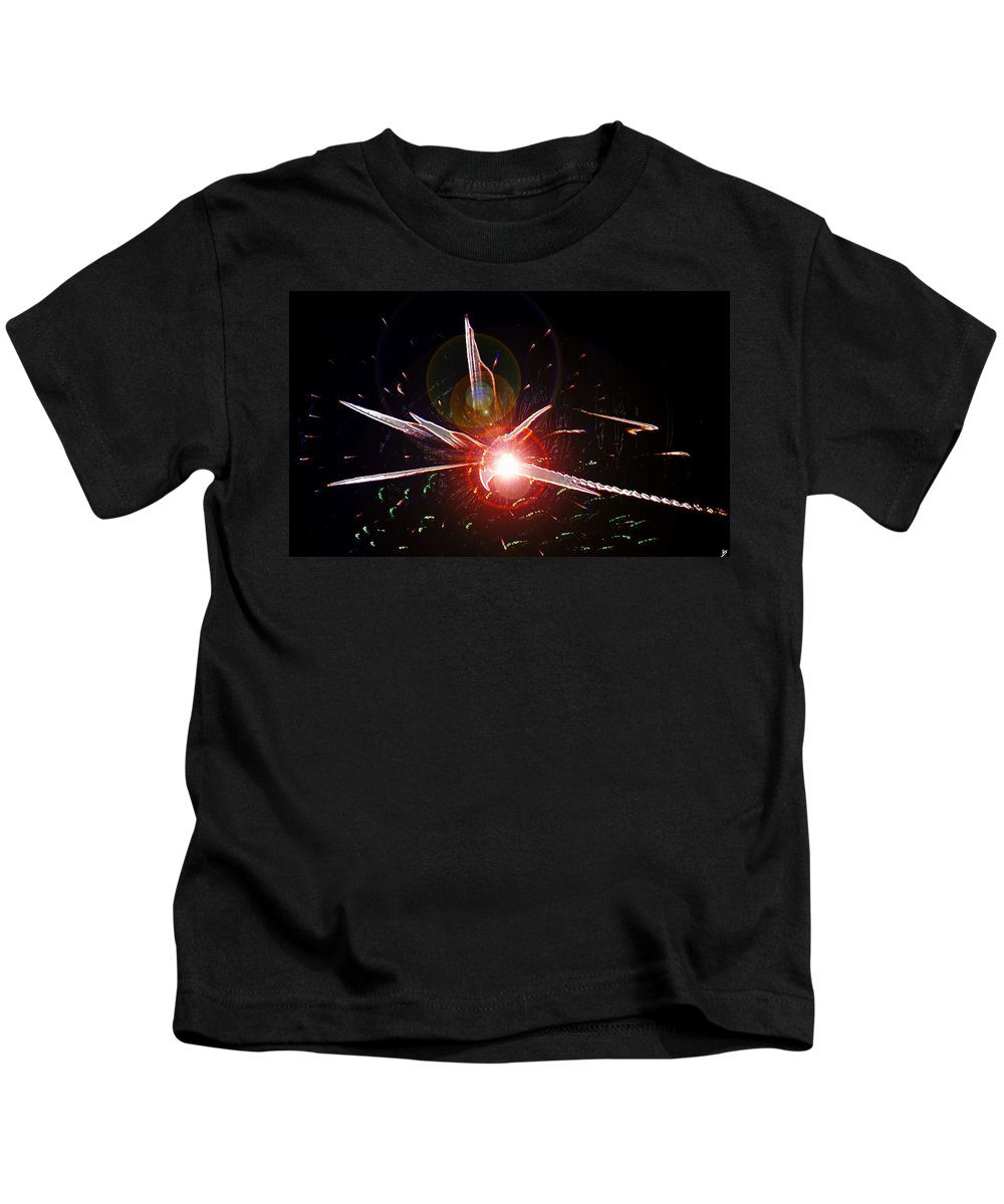 Higgs Boson Kids T-Shirt featuring the painting Higgs Boson Work B by David Lee Thompson