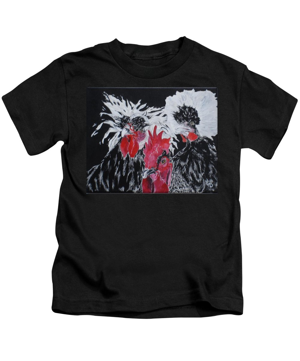 Farmhouse Art Kids T-Shirt featuring the painting High Society by Georgia Donovan