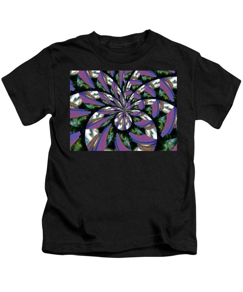 Abstract Kids T-Shirt featuring the digital art Highrise Kaleidoscope by Tim Allen
