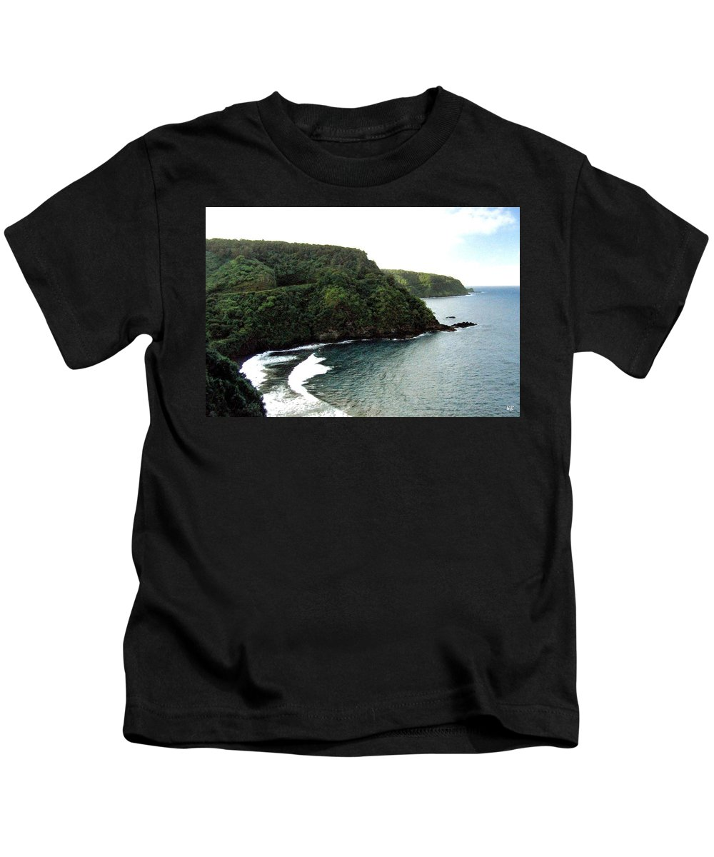 1986 Kids T-Shirt featuring the photograph Highway To Hana by Will Borden