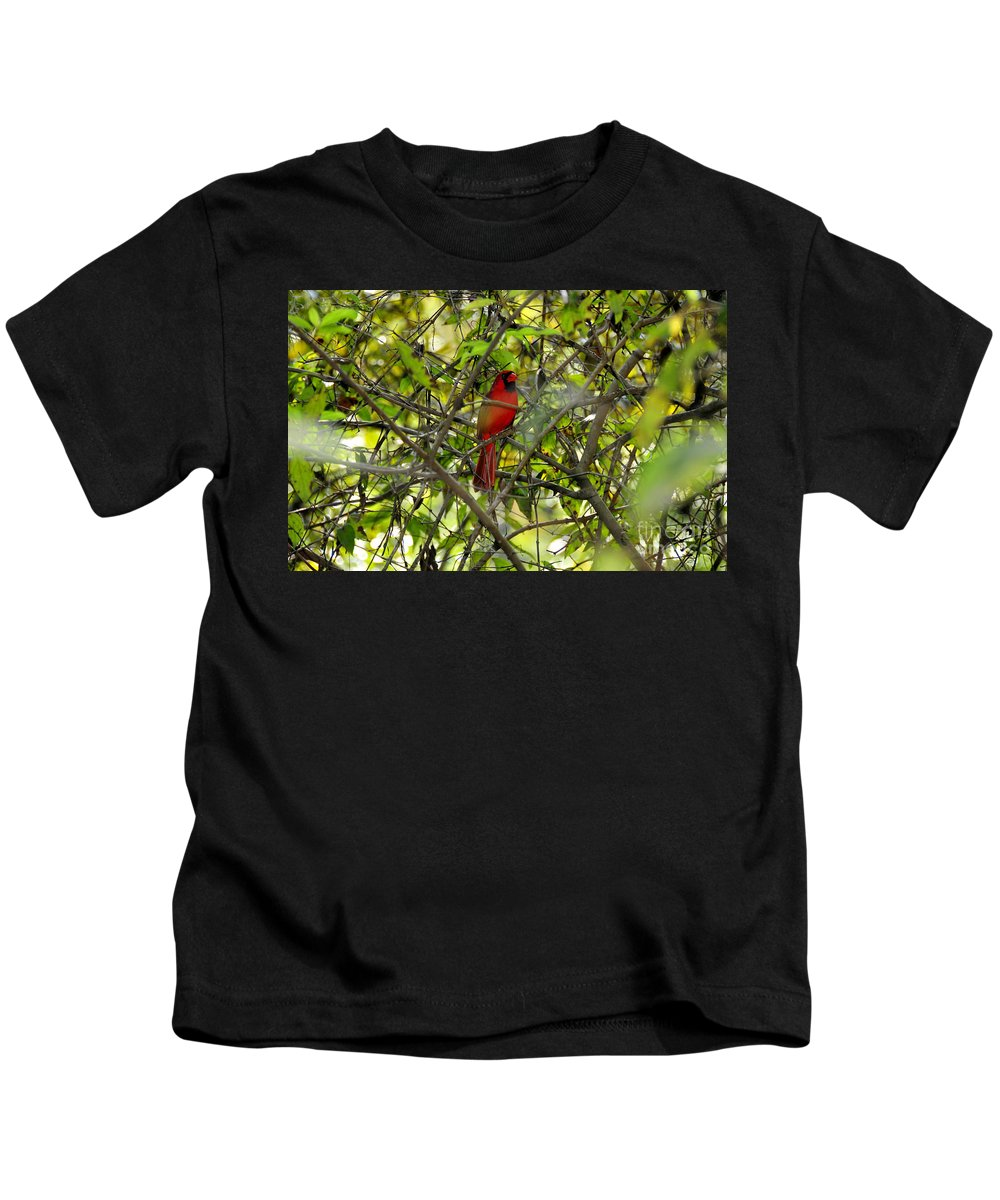 Red Kids T-Shirt featuring the photograph His Majesty by David Lee Thompson