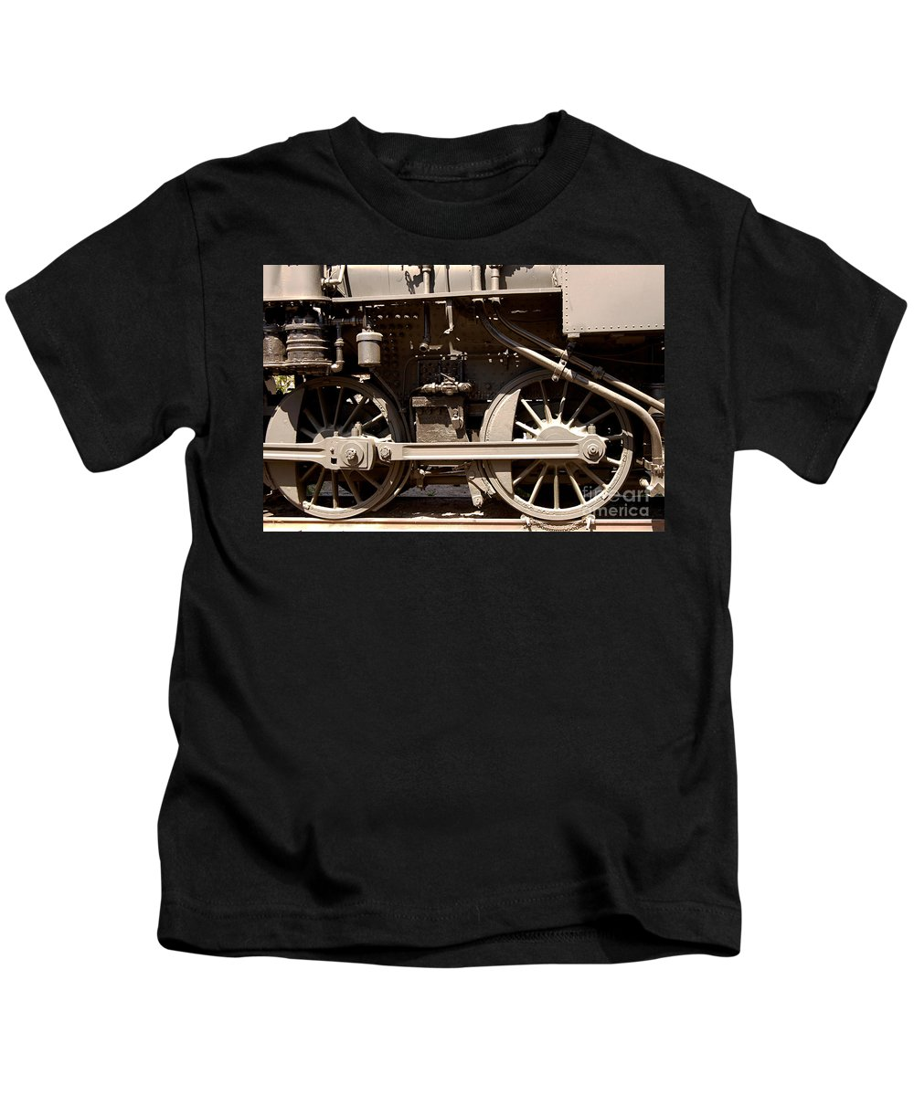 Clay Kids T-Shirt featuring the photograph Historic Trains by Clayton Bruster