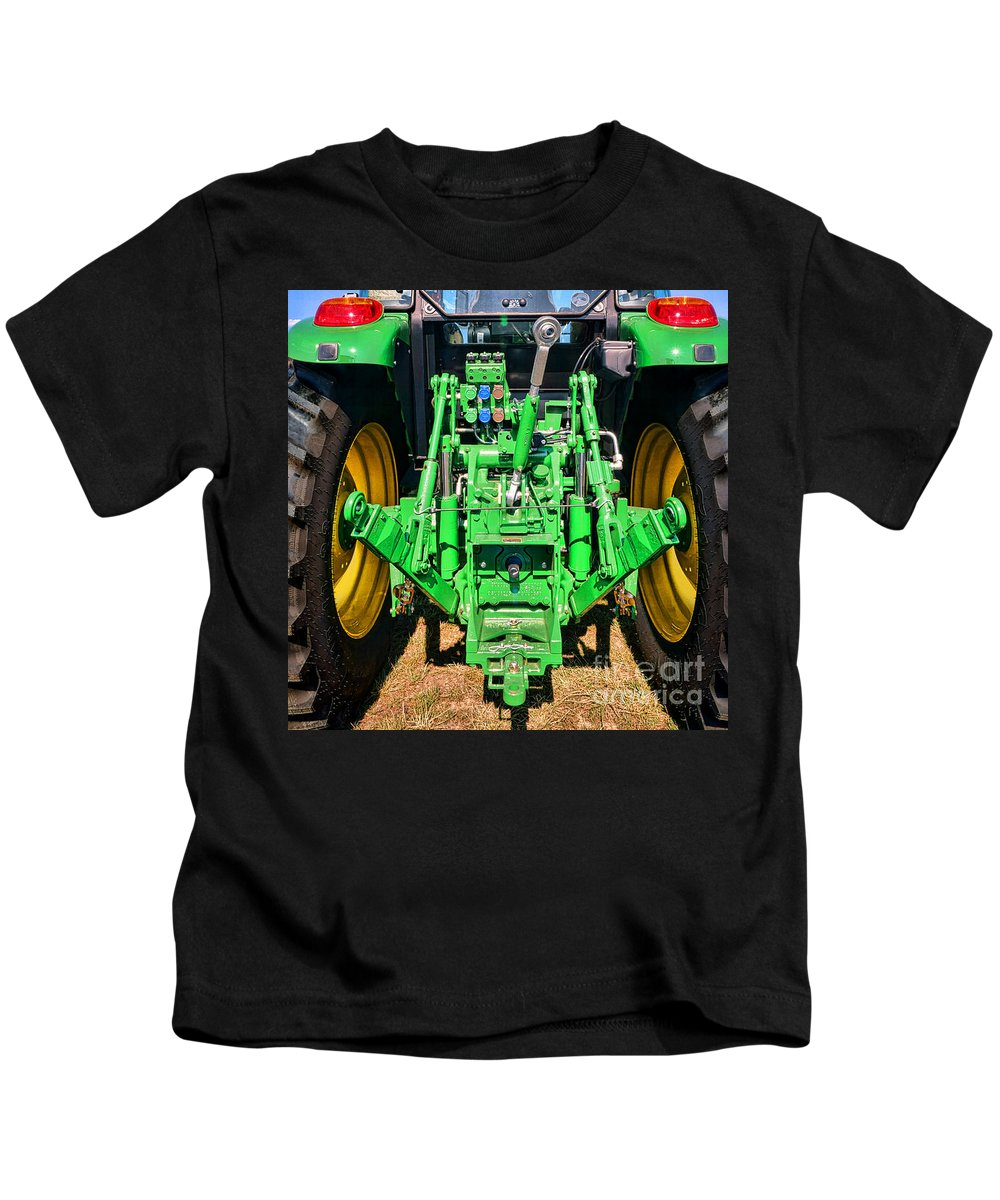 John Kids T-Shirt featuring the photograph Hitch A Deere by Olivier Le Queinec