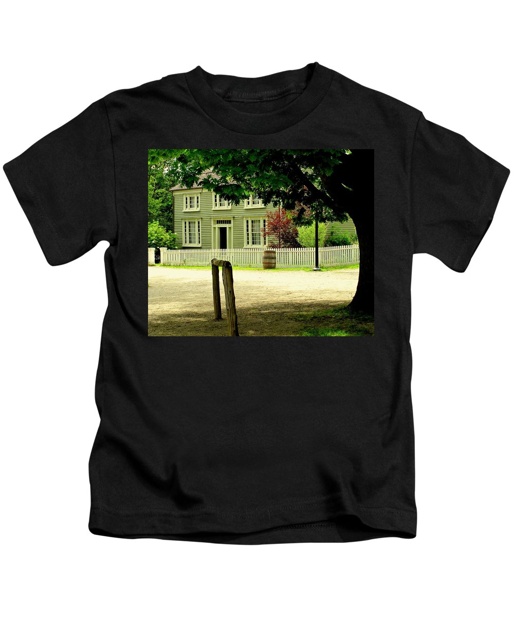 Hitching Post Kids T-Shirt featuring the photograph Hitching Post by Ian MacDonald