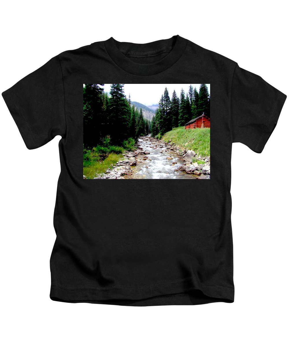 Hobock Kids T-Shirt featuring the photograph Hobock Canyon by Terry Anderson