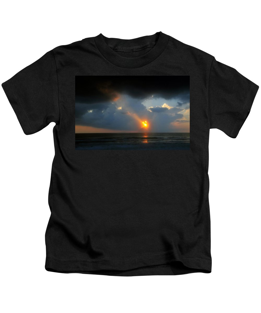 Beach Kids T-Shirt featuring the photograph Hole In The Gulf by David Lee Thompson