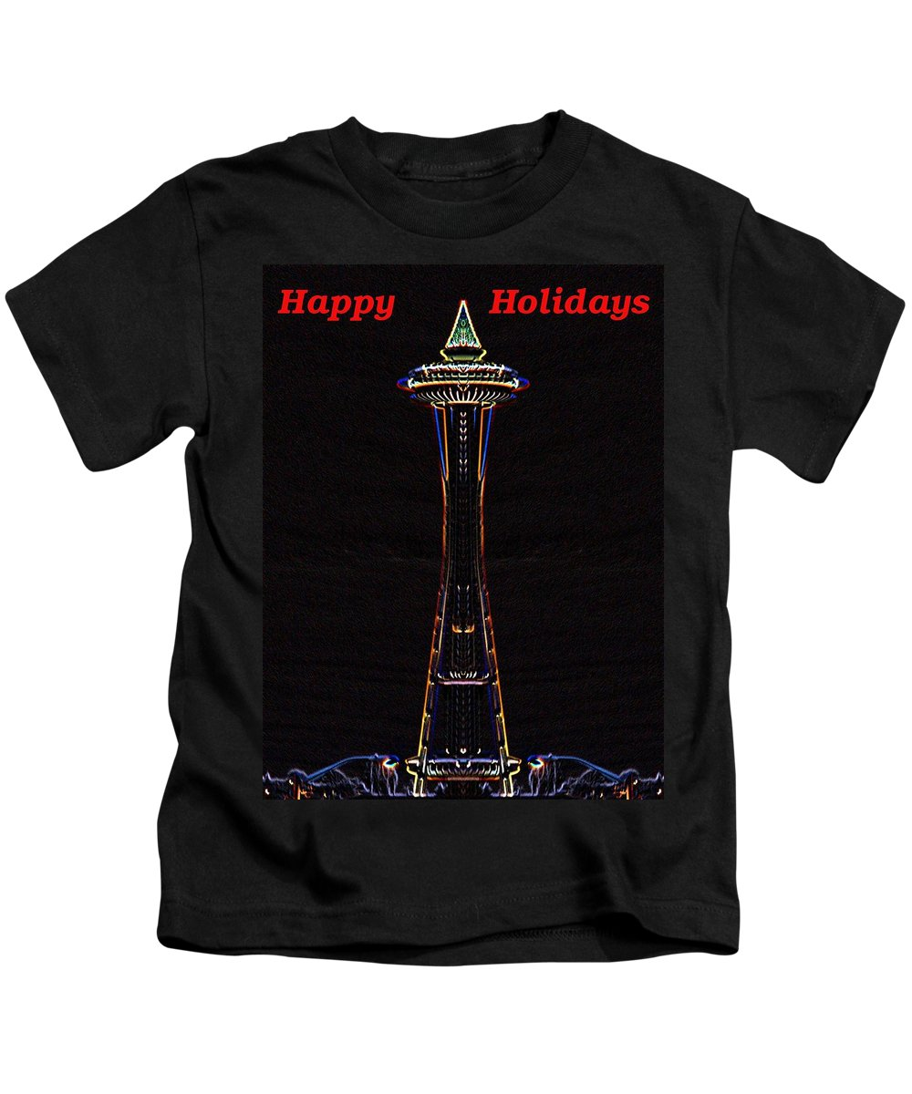 Seattle Kids T-Shirt featuring the photograph Holiday Needle 3 by Tim Allen