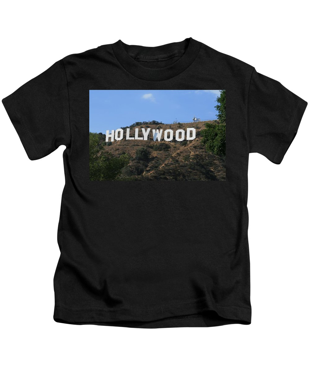 Hollywood Kids T-Shirt featuring the photograph Hollywood by Marna Edwards Flavell